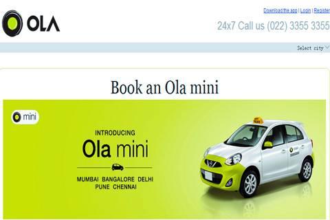 印度打车应用Olacabs获软银2.1亿美元D轮融资