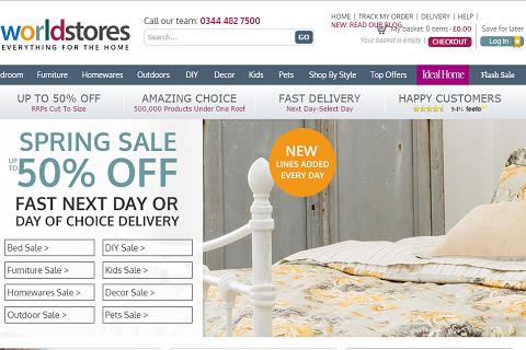 高盛2500万英镑领投英国线上家具零售商WorldStores
