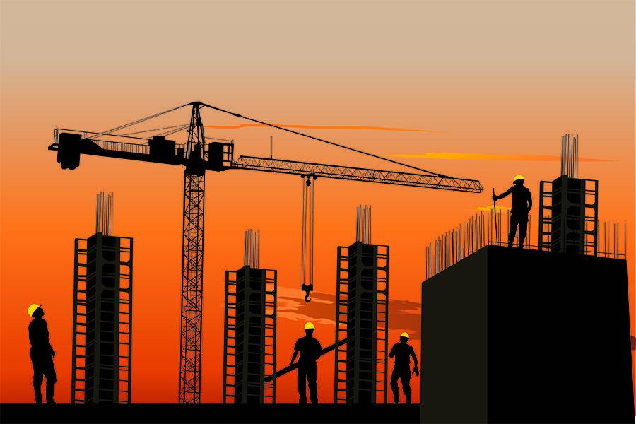 脚手架,房产,黄昏,亿欧智库,智能建筑