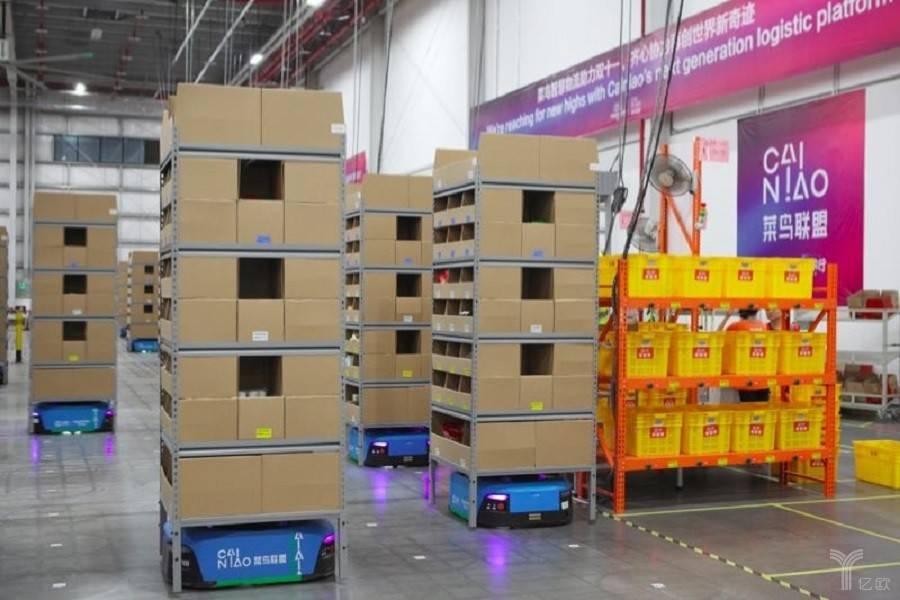 菜鸟全球首启机器人仓群,智能仓配网络立体服务体系已成型