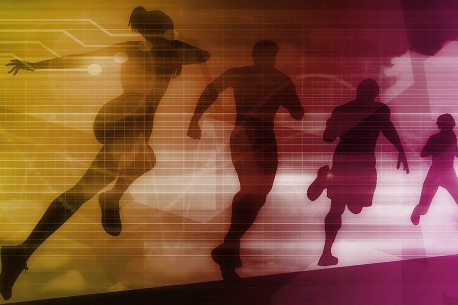 跑步,体育
