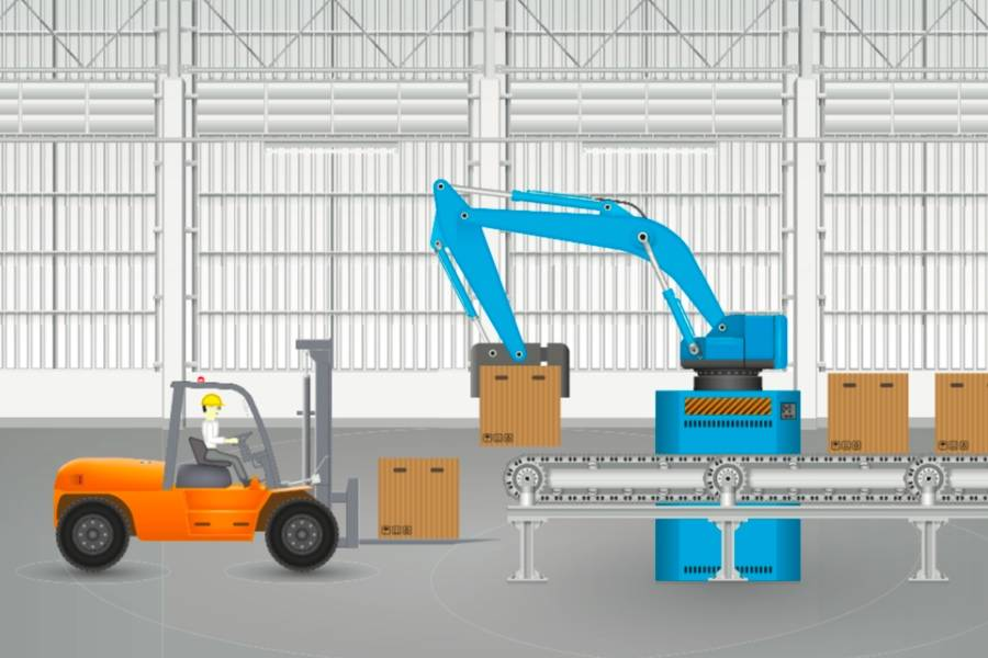 码垛机器人,工业机器人,仓储,仓储设备,5G,自动化仓库,立体货架,巷道式堆垛机,AGV,叉车,仓储无人机,WMS,WCS