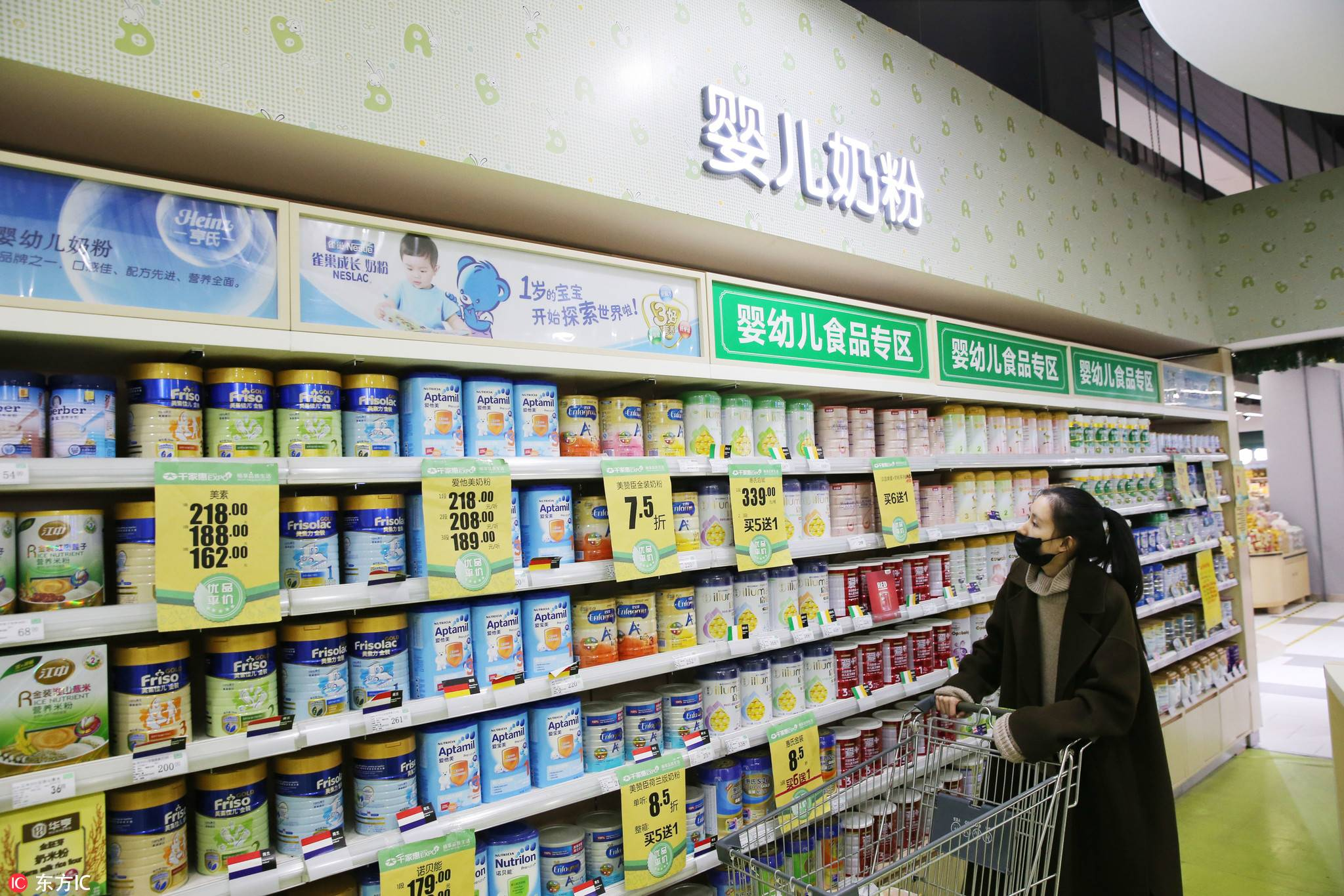 亿欧智库:湖北宜宾某大型超市婴儿奶粉区,亿欧智库,雅培,婴幼儿奶粉