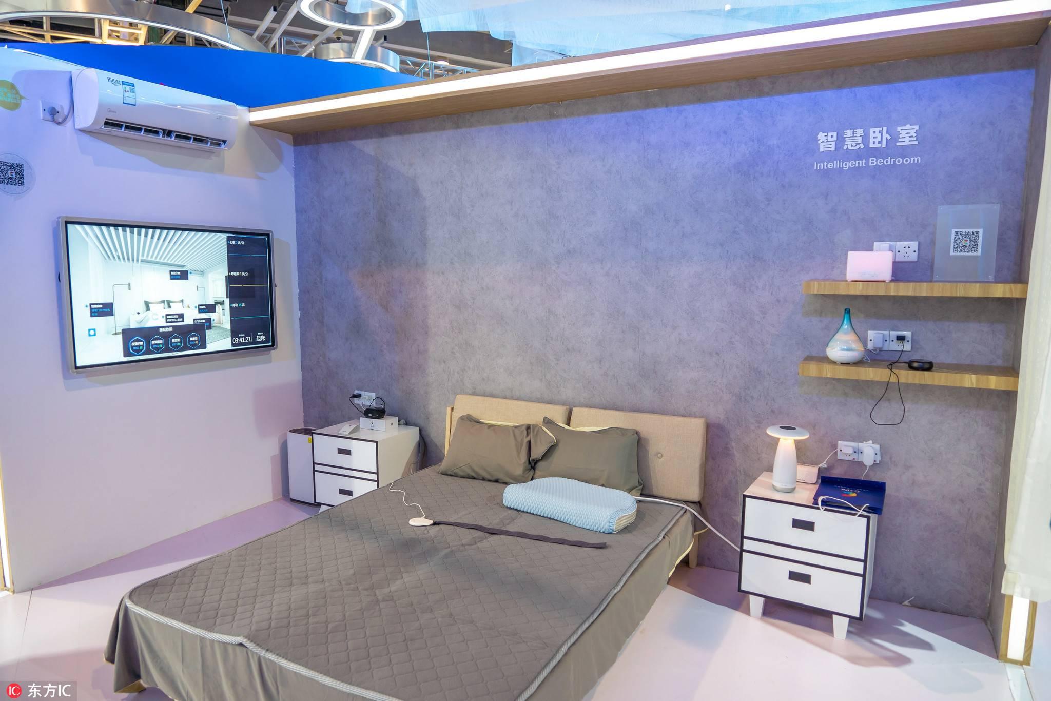 智能硬件-智慧卧室样板间,亿欧智库,智能硬件