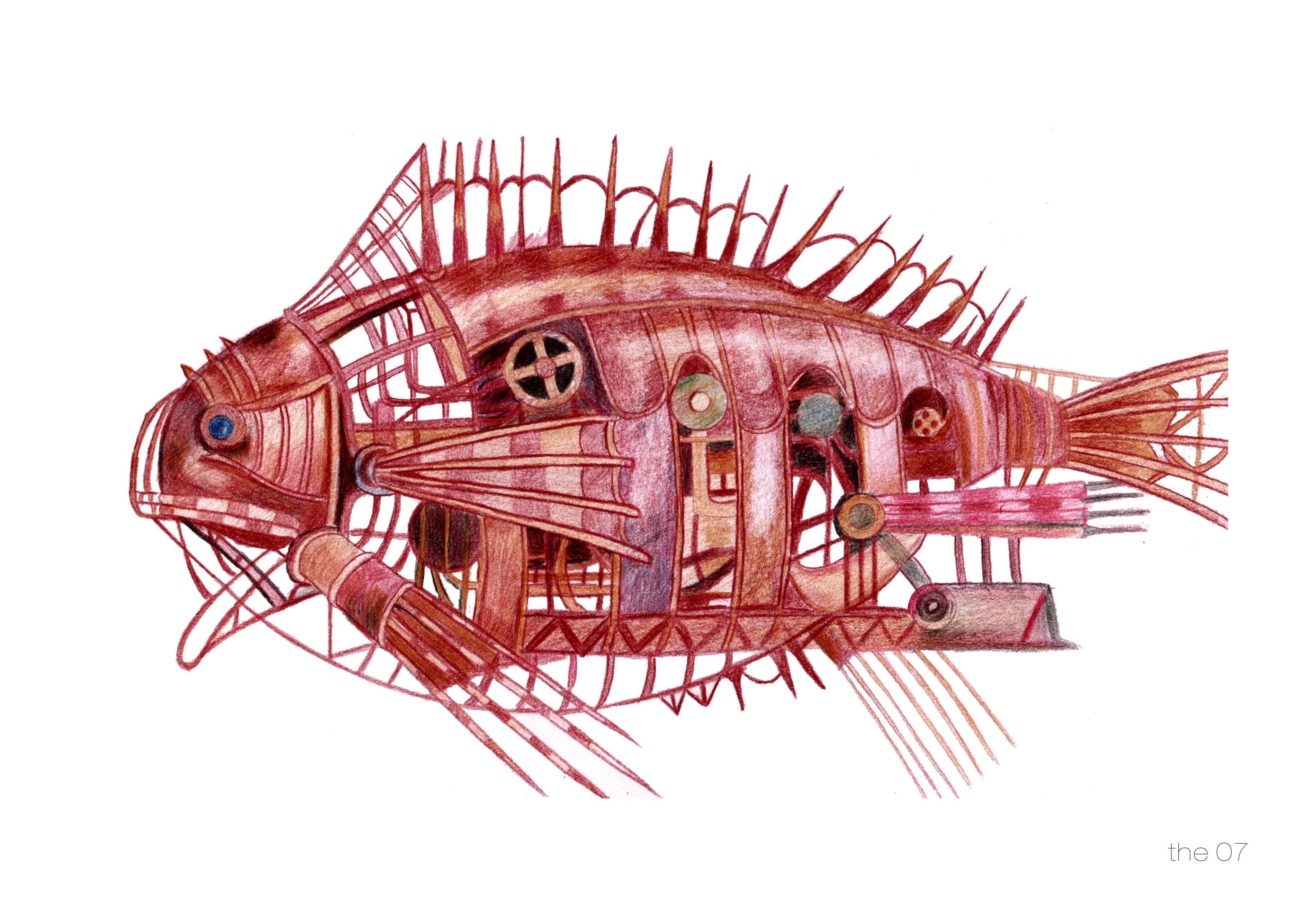 机器鱼,机器鱼,血液系统,软体机器人,液压液,储能
