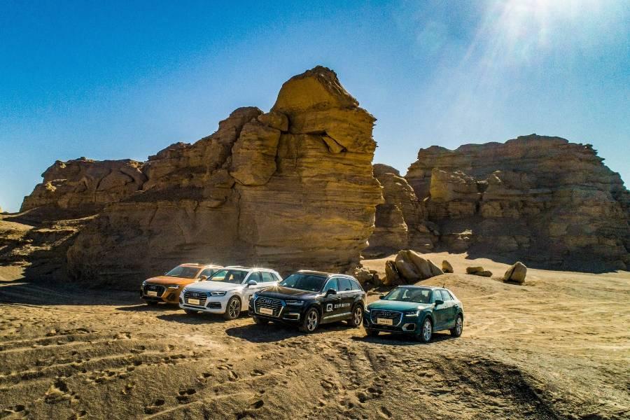 在新疆古丝绸之路的无人区上,奥迪为Q5L的quattro四驱系统正名