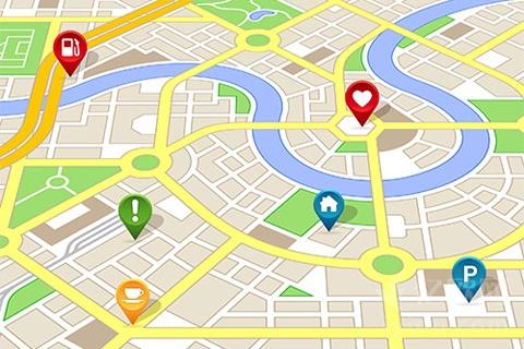 示意图:地图,LBS