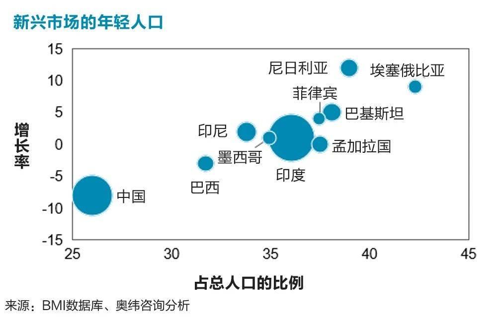 新兴市场的年轻人口