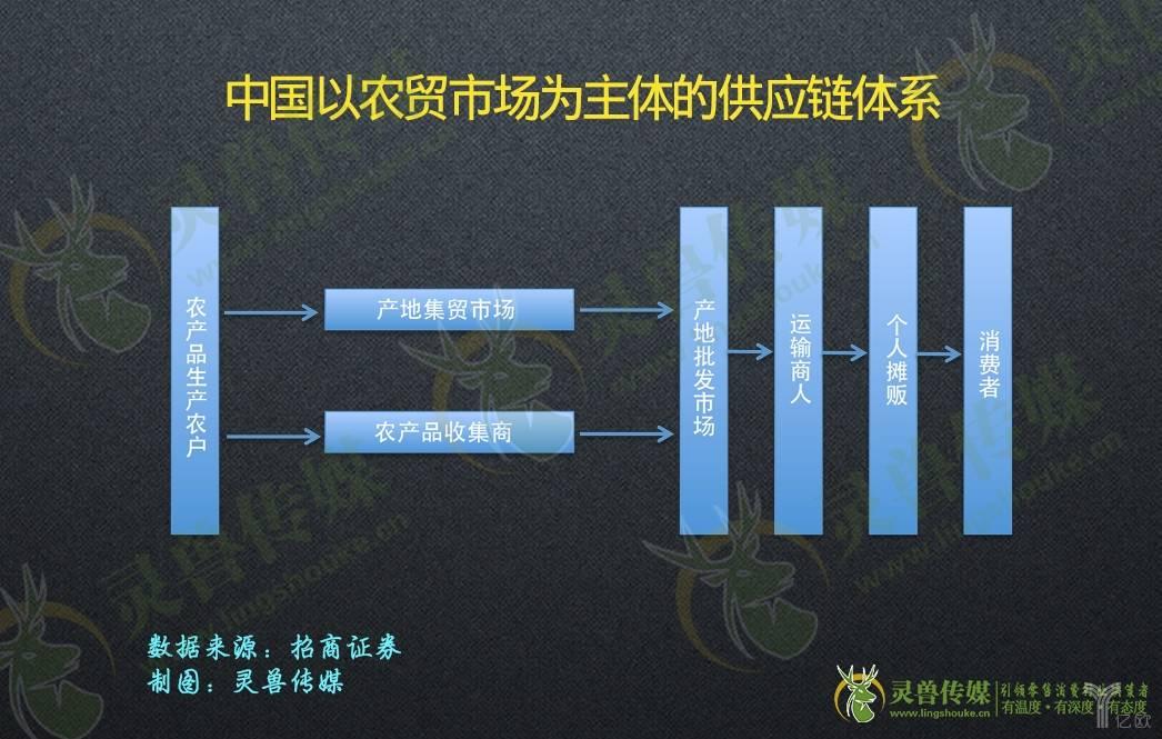 中国以农贸市场为主体的供应链体系