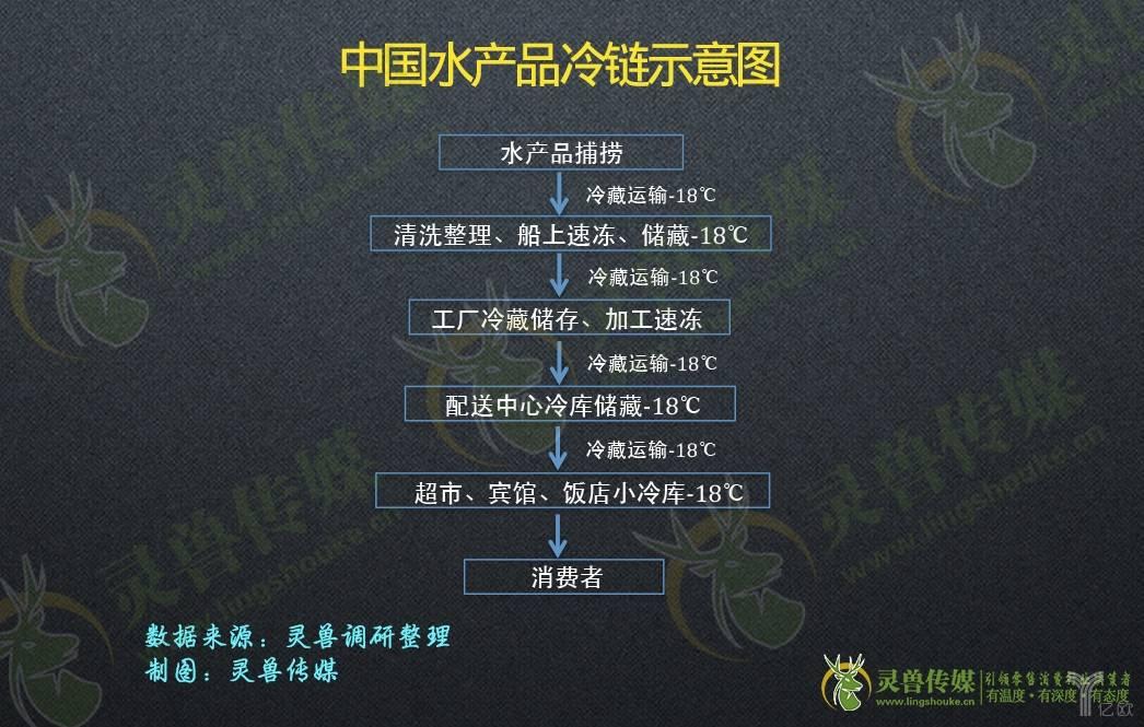 中国水产品冷链示意图