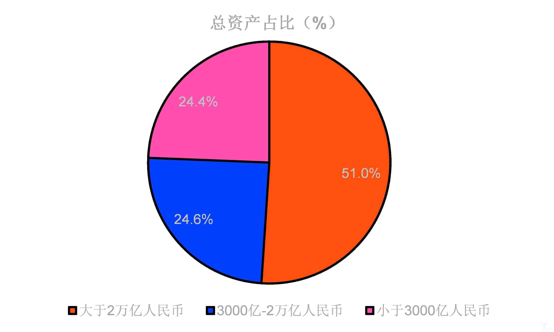中国各类银行业机构资产占比
