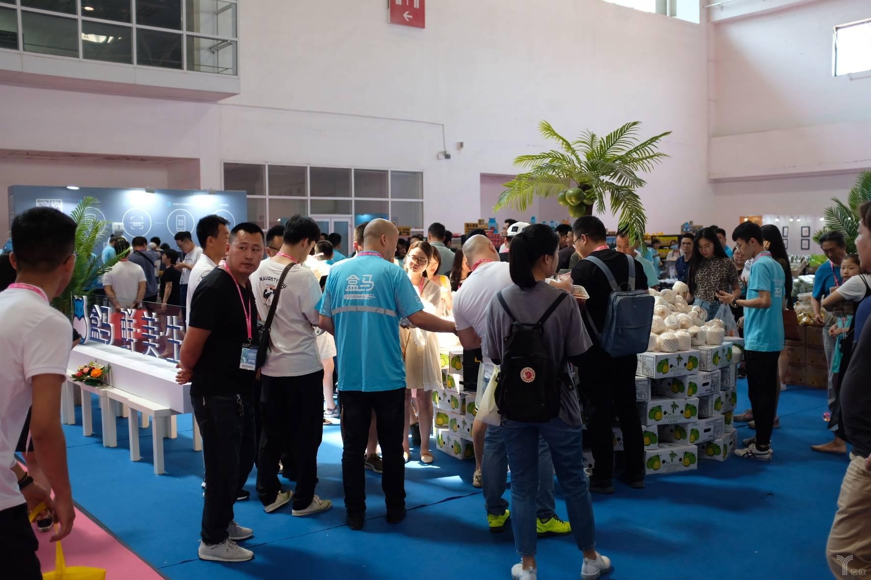 圖四:盒馬鮮生展區內的客流量