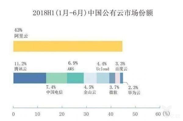 中國公有云市場份額