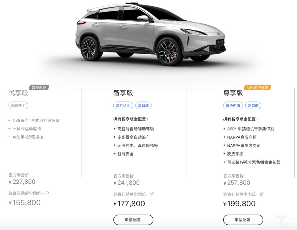 2019款小鹏G3配置与价格