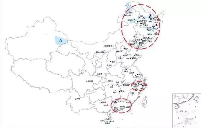 收缩城市地图
