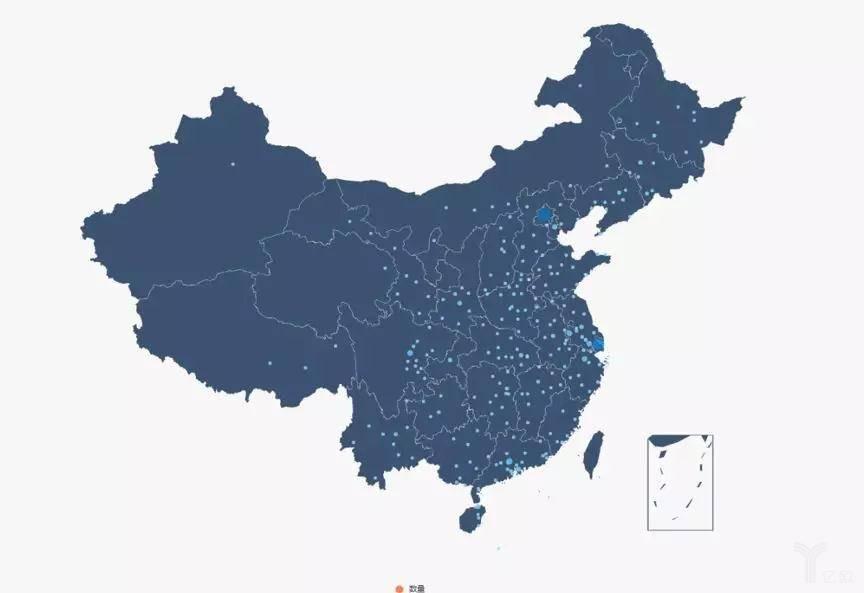 图4  全国创新药企业城市分布散点图