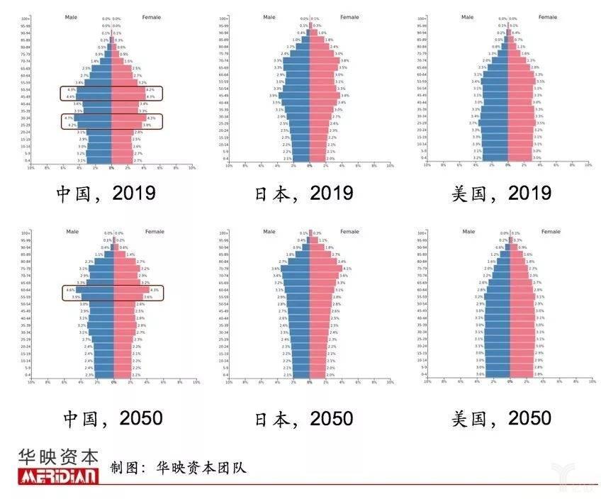 亿欧智库:中美日人口结构图