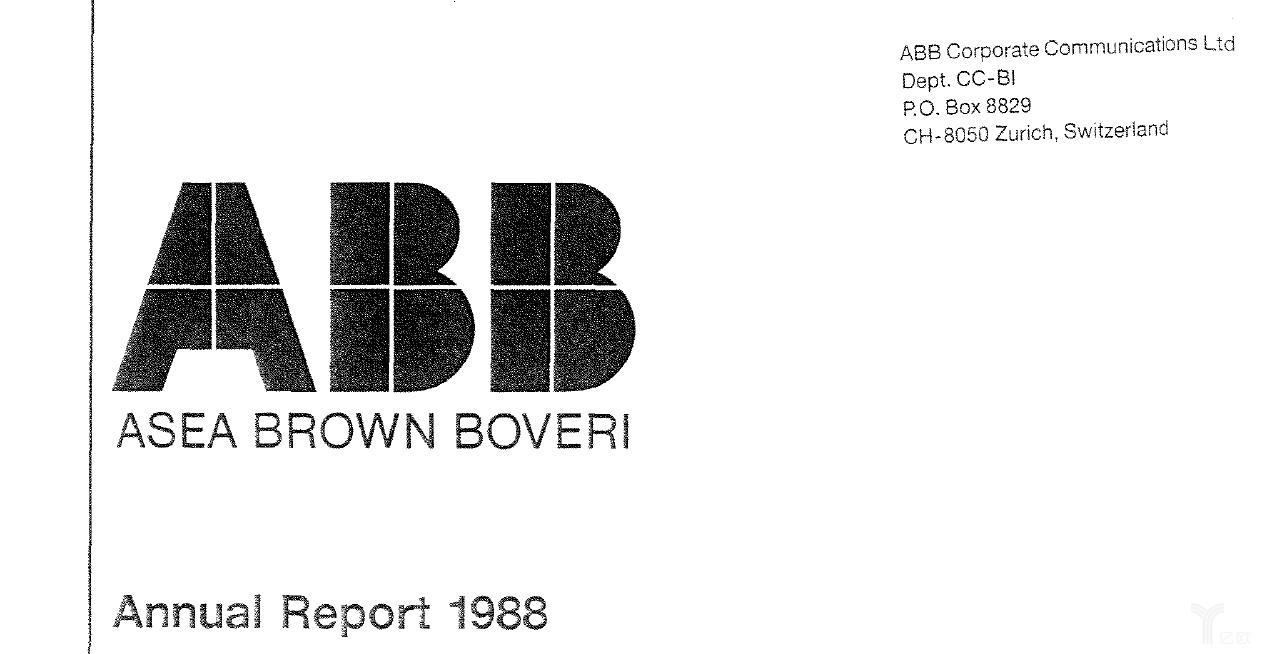 亿欧智库:1988年ABB发布第一期年报