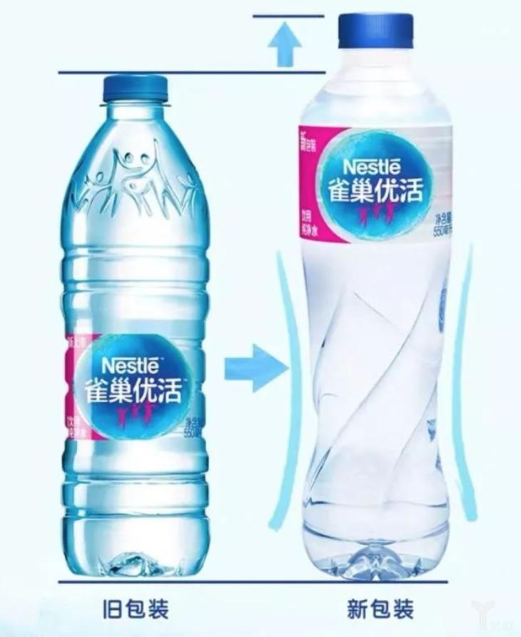 亿欧智库:雀巢水新旧包装