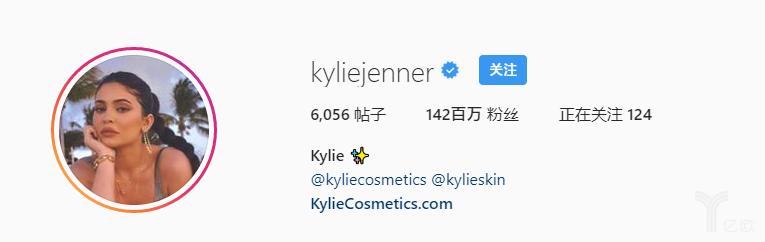 亿欧智库:Kylie年Instagram信息