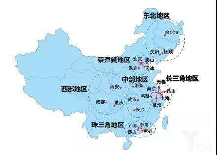 国内机器人产业集群分布图