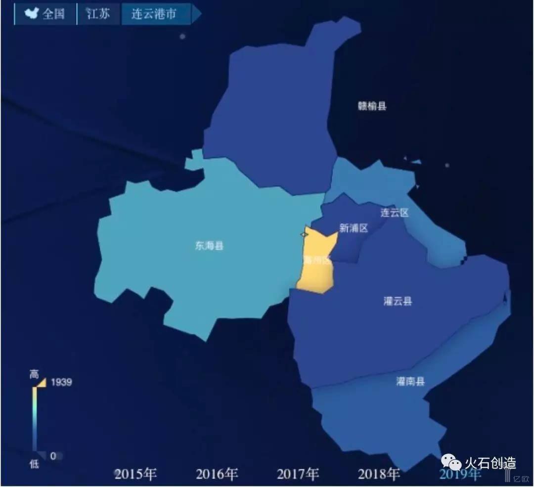 亿欧智库:连云港生物医药产业空间集聚图