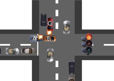 事故模拟图