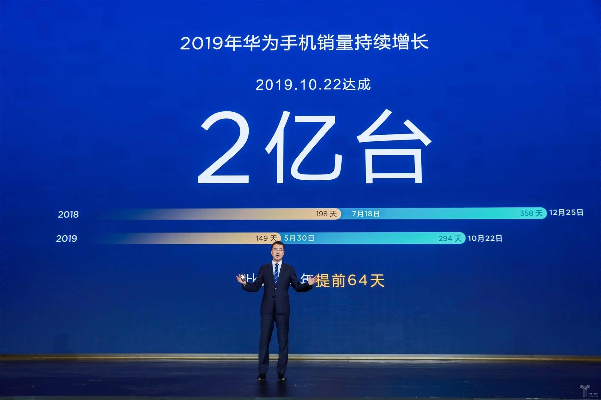 华为2019年手机销量突破2亿台