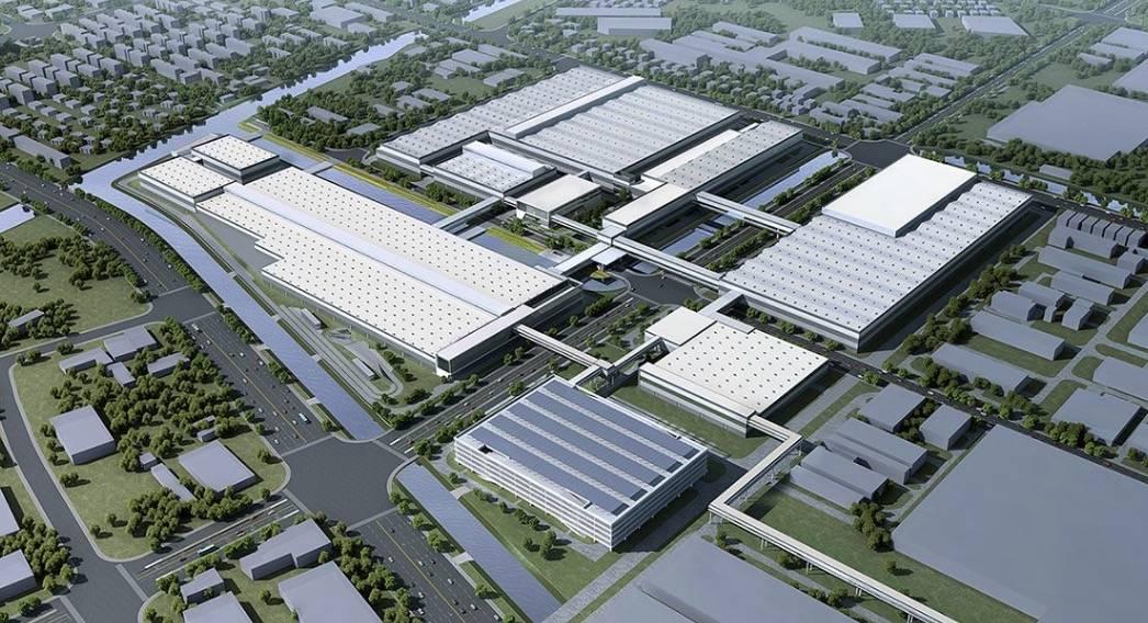 上汽大众新能源工厂鸟瞰图丨官方
