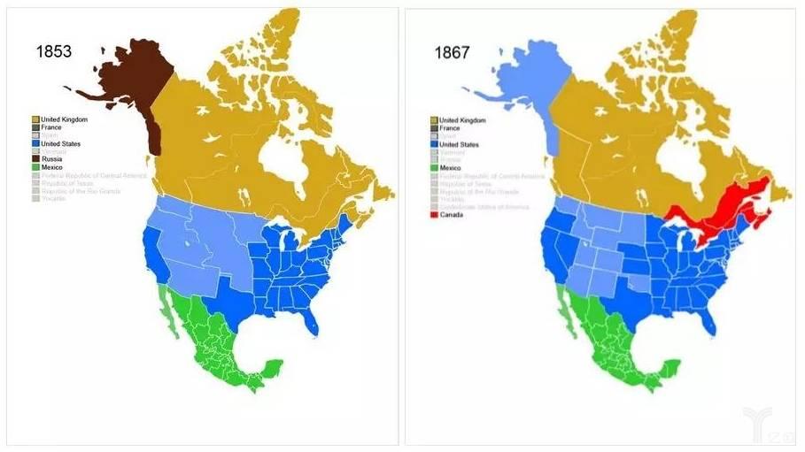 常垒资本:美国1853-1867年领土变化