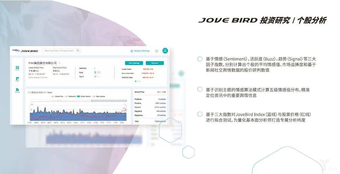 JoveBird另类数据分析平台