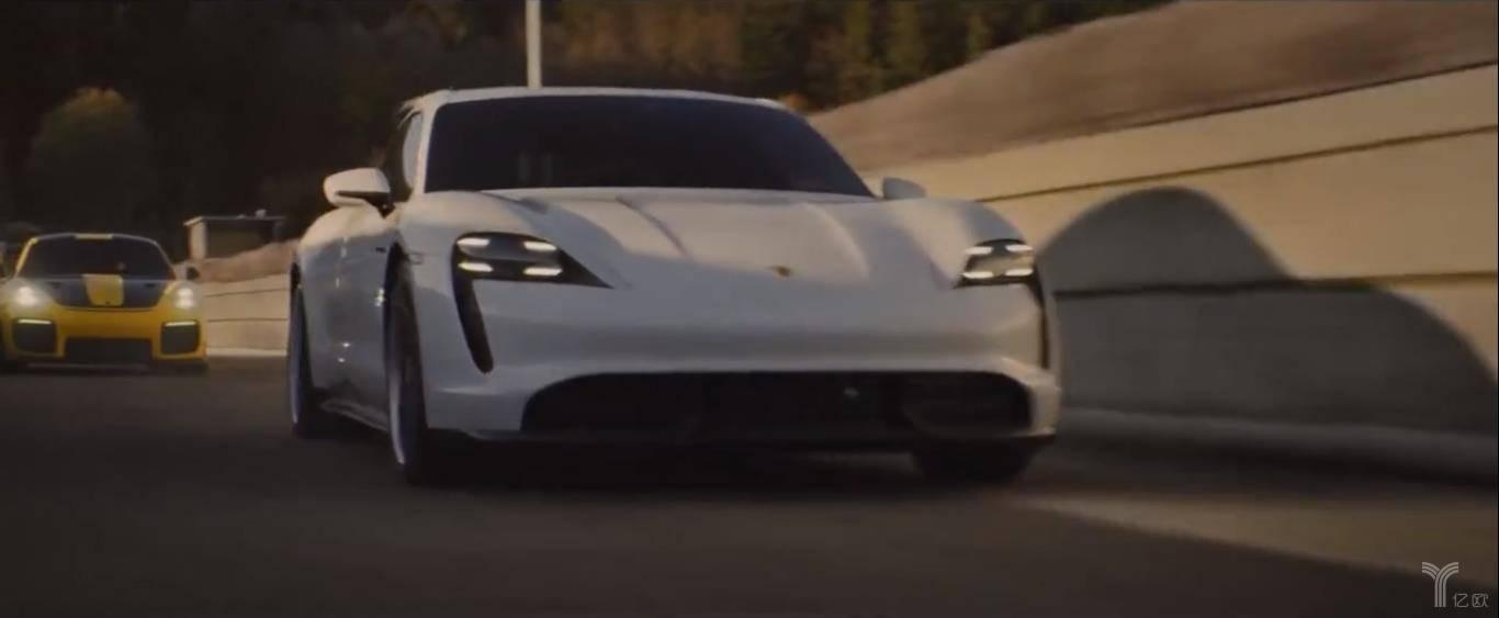 保时捷2020超级碗广告截图/亿欧汽车