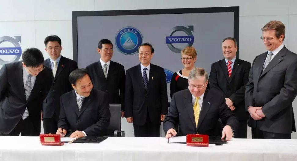 2010年3月28日,吉利控股集团收购沃尔沃汽车签约仪式